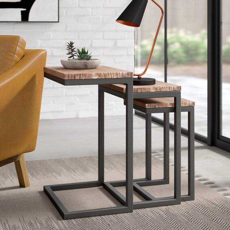 Beckman 3 Piece Nesting Tables Reviews Allmodern In 2020 Modern Furniture Living Room Nesting Tables End Tables #nesting #tables #living #room