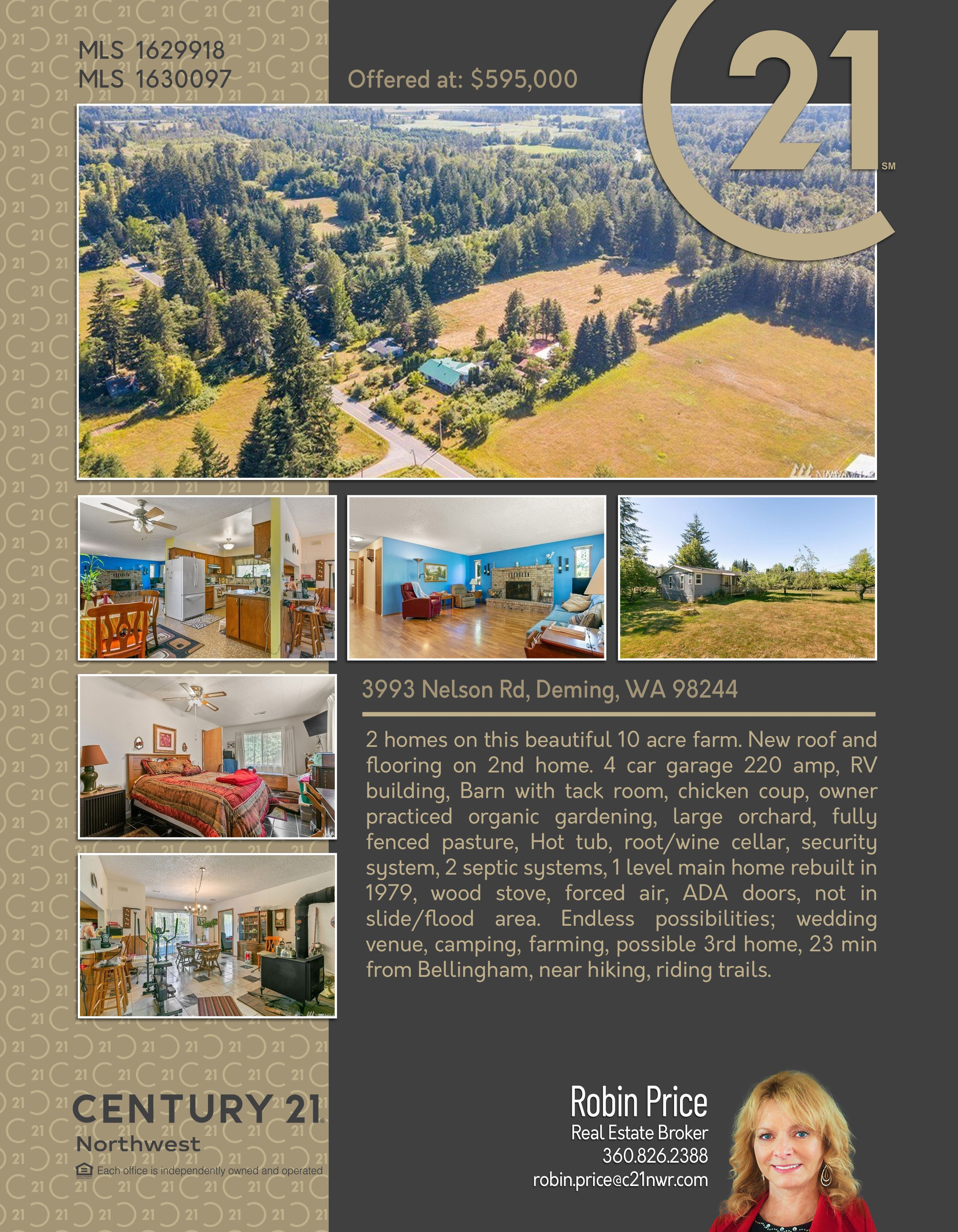 NEWACTIVE 2 homes on this beautiful 10 acre farm. New