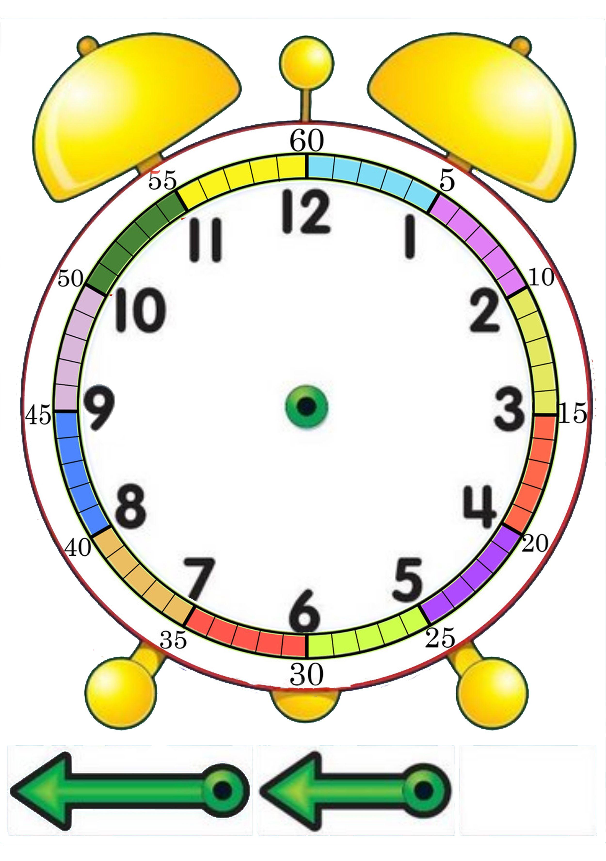 Monta Tu Reloj Hojita Simple Para Que Los Nios Practiquen El Relojsi