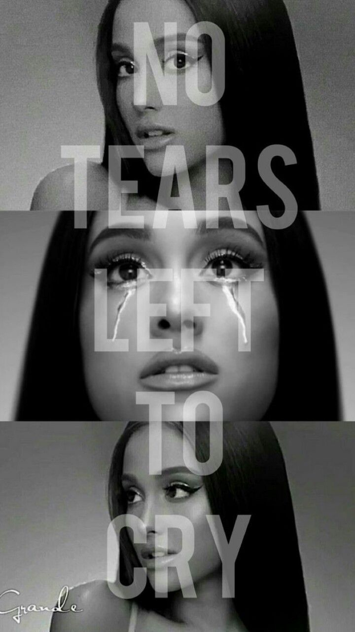 Black And White Ariana Grande No Tears Left To Cry Photo