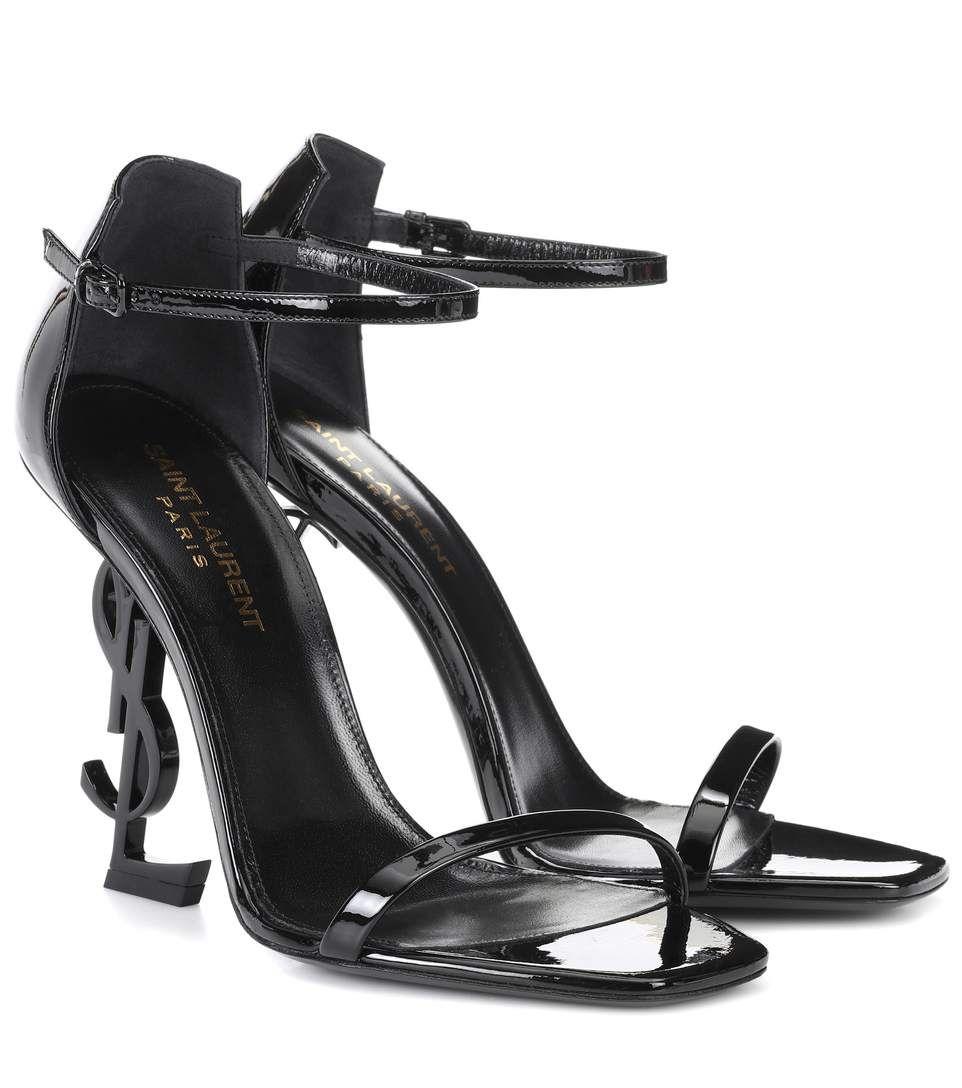 50e3badb54756 Saint Laurent Opyum 110 patent leather sandals