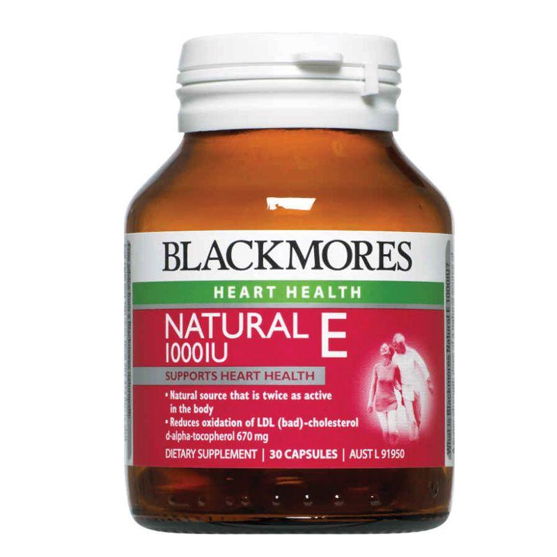Buy Blackmores Natural Vitamin E 1000iu 30 Capsules Online At