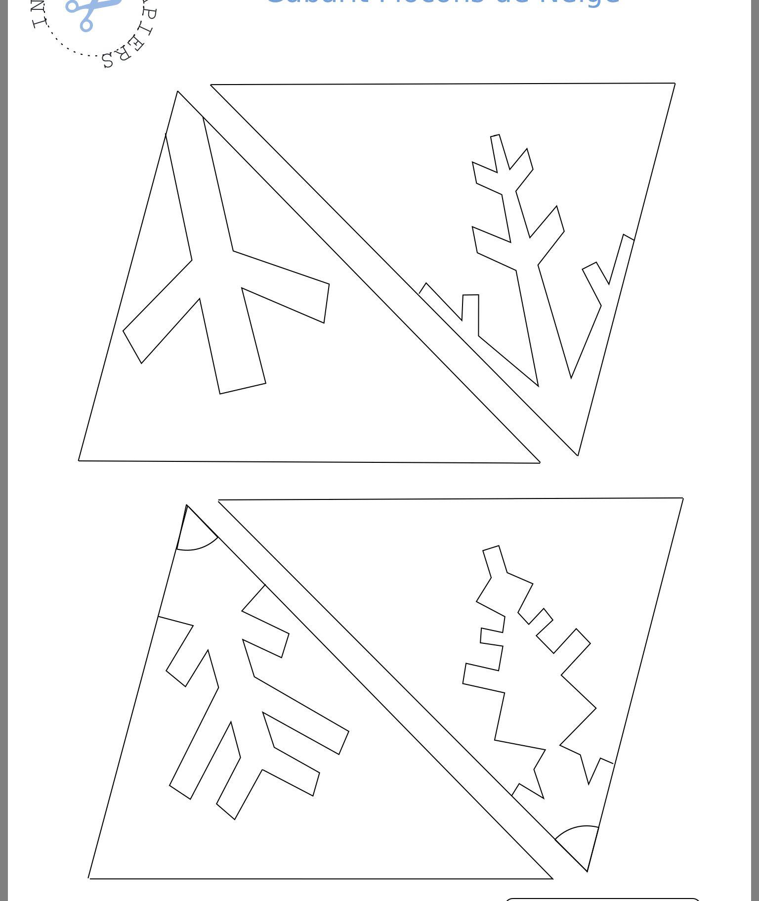 Epingle Par Anne Brouckaert Sur Origami Flocons De Neige En Papier Flocon De Neige Flocons De Neige Maternelle