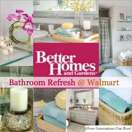 Bathroom Refresh with Better Homes and Gardens {makeover | Budget ...