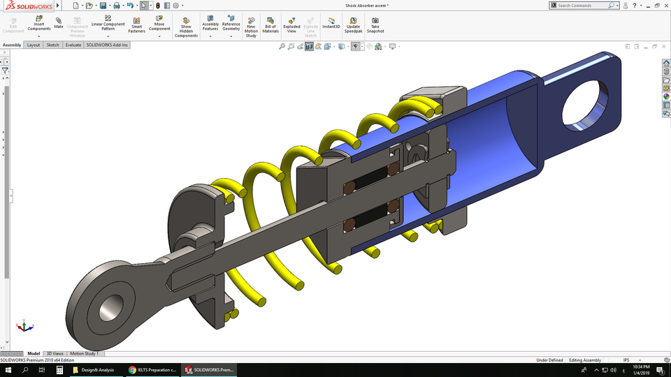 Double Wishbone Suspension system   3D CAD Model Library