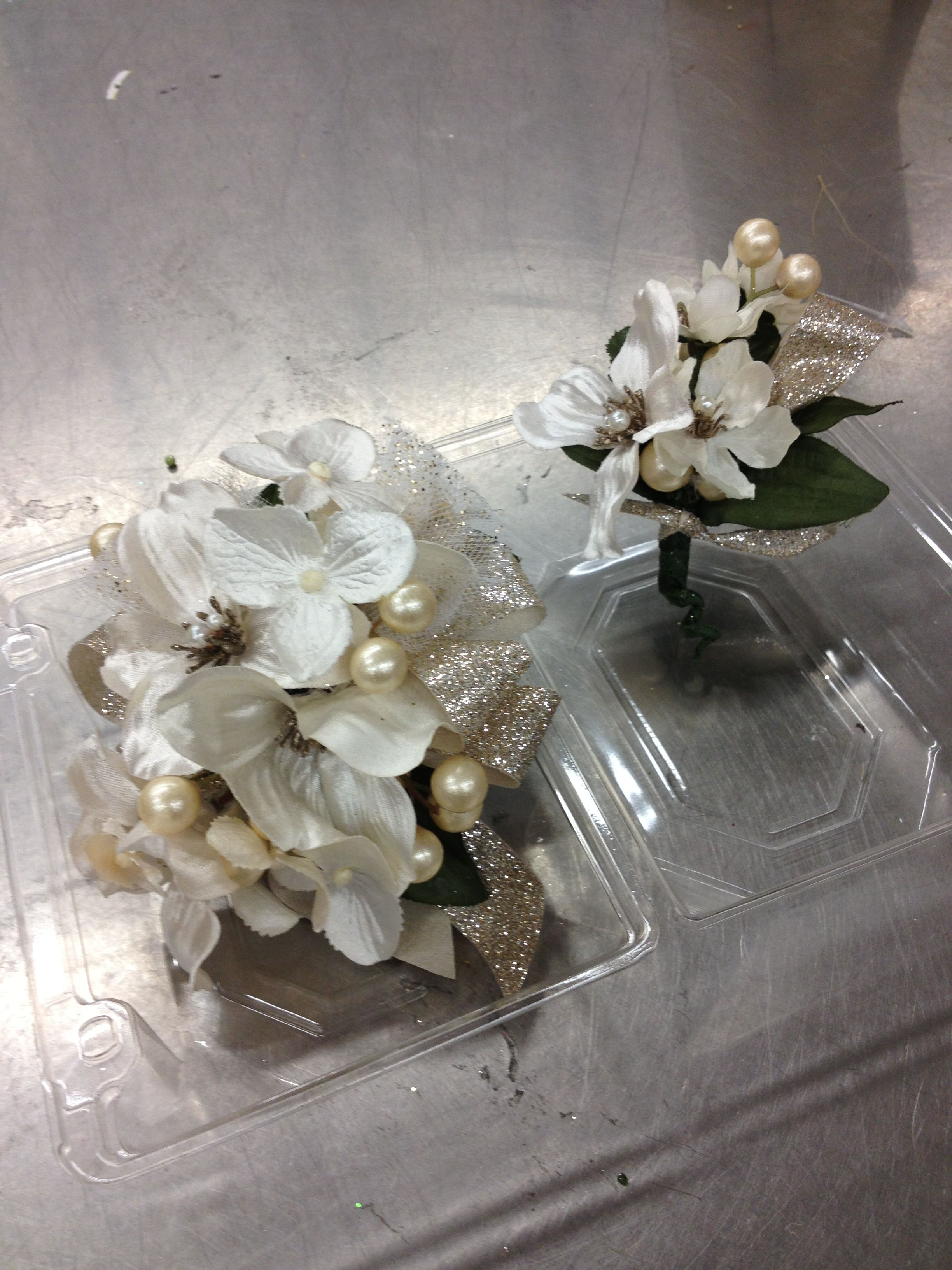 Champagne Prom Bout And Corsage By Renee