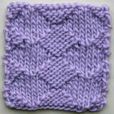 Plain Diamonds Knitting Stitch Pattern Diy Pinterest Knitting