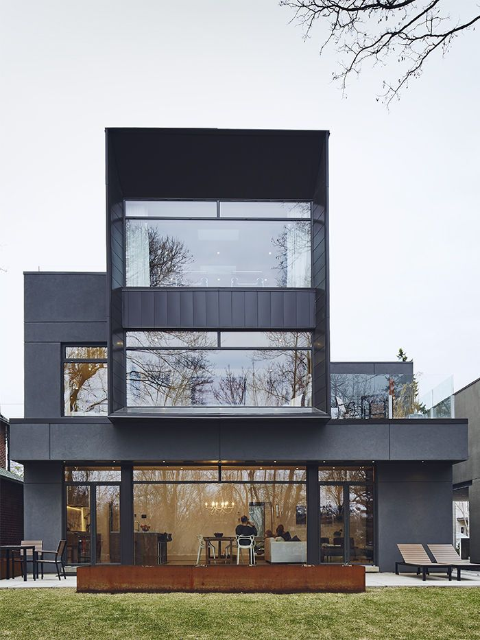 modern toronto house with an aluminum paneled exterior pinterest. Black Bedroom Furniture Sets. Home Design Ideas