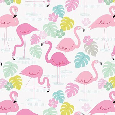 5 Sheets Of Flamingo Bay Gift Wrapping Paper Gift Wrapping Paper
