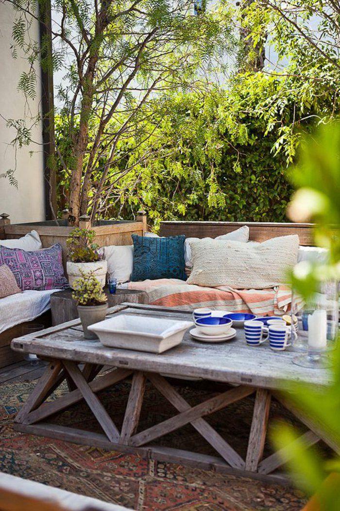 amenagement terrasse exterieur et meubles en bois massif ...