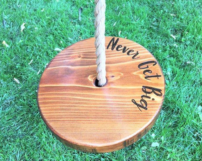 Tree Swing Handmade Pine Tree Swing Disc Swing Round Swing Rope Swing Natural Climbing Rope Swing Kids Swing Summer Toy Swings Wooden Tree Swing Tree Swing Rope Swing