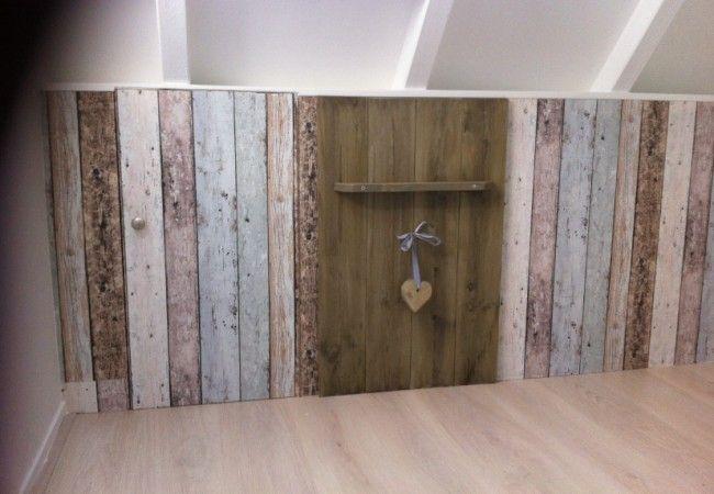 sloophout behang  zolder  Home bedroom Room en Living Room
