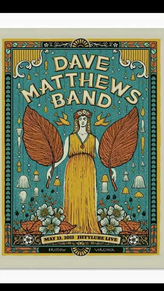 dmb poster jiffy lube live bristow va 5 23 2015 dmb in 2019 dave matthews band posters. Black Bedroom Furniture Sets. Home Design Ideas
