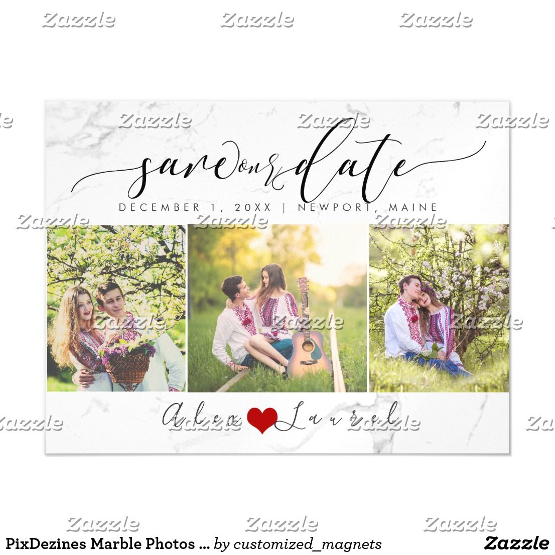 pixdezines marble photos save our date magnetic invitation in 2018