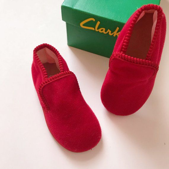 f78b84834 Vintage Clarks baby slippers