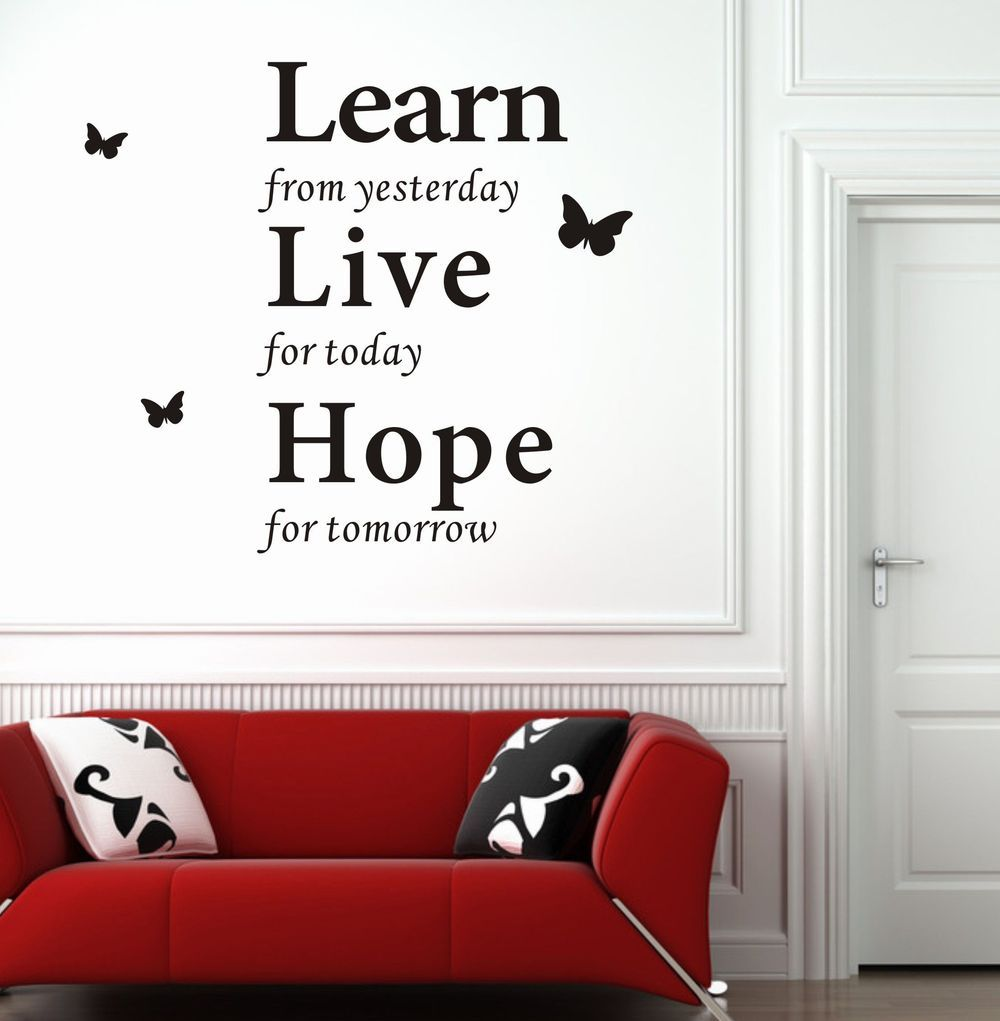 Modern wall decor wall decor stickers modern wall for Decoration quotes