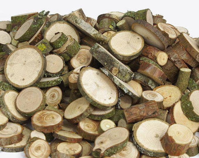 1000 Small Various Wood Slices Bulk Various Tree Slice Assortment Floristry Supply Tree Wood Circles Rounds Branch Slic Wood Slices Floristry Supplies Wood