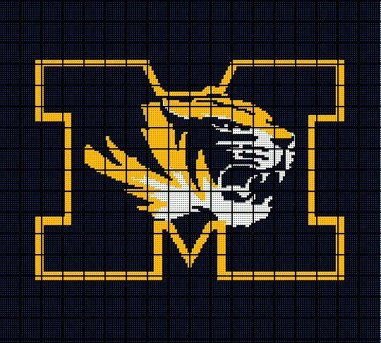 $5 -University of Missouri - MIZZOU Tigers - Crochet Afghan ...