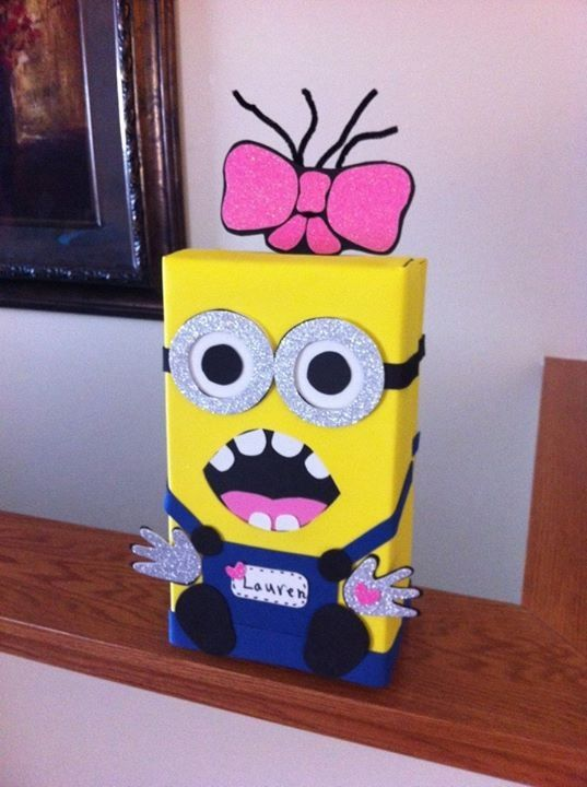 Here Is Our Minion Valentine Box