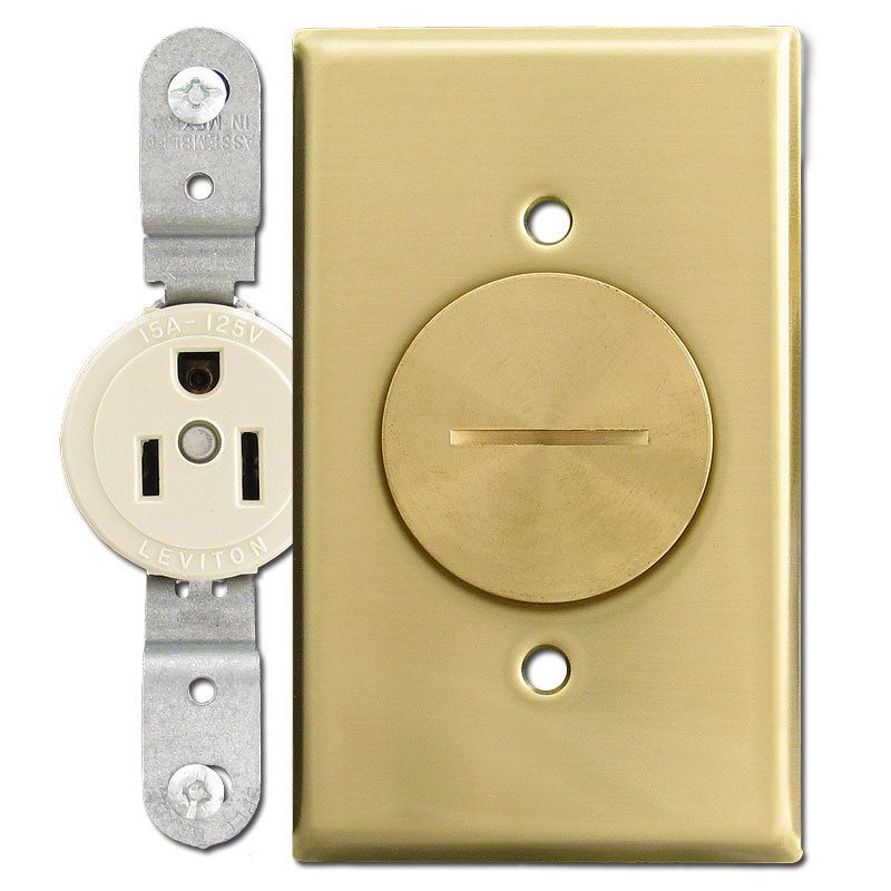 Floor outlet cover plates gurus floor for Floor electrical outlet