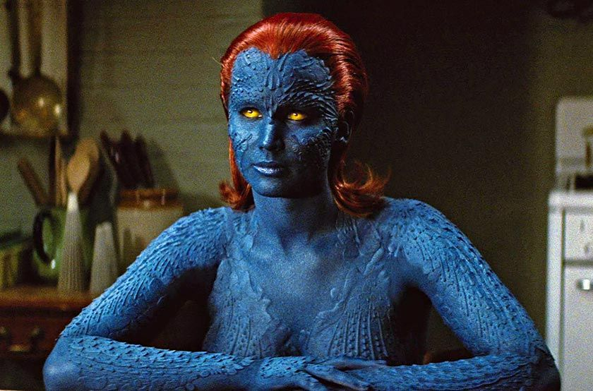 Jennifer Lawrence In X Men First Class The X Men Universe Mutant Makeups Fantasy Makeups Mystique Marvel Jennifer Lawrence X Men X Men