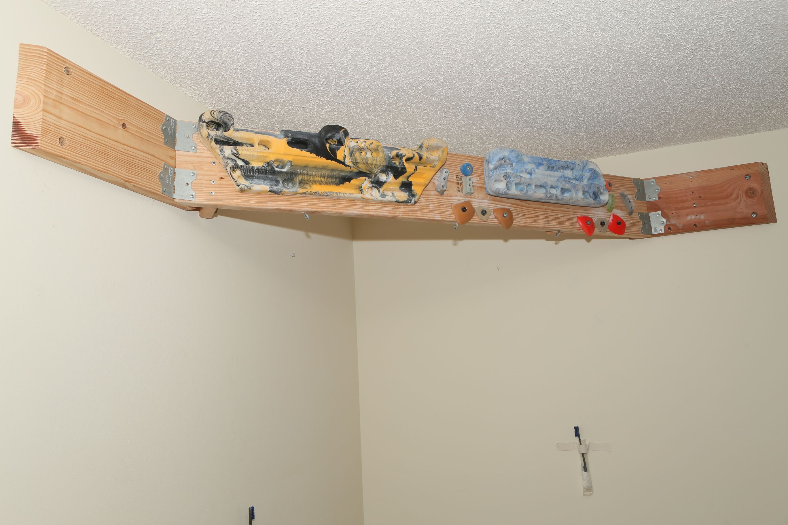 Corner Hangboard Mount Climbing Home Climbing Wall