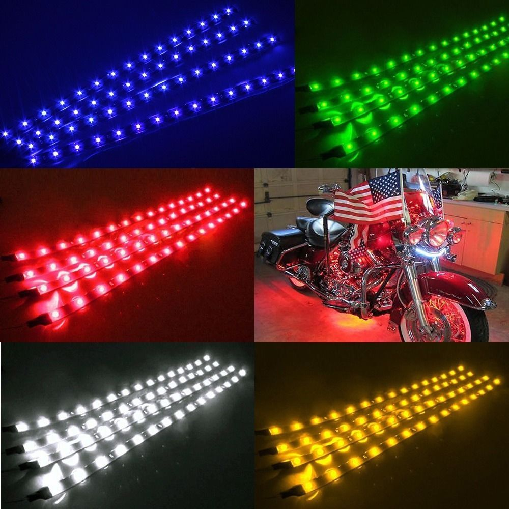 2x Waterproof Atmosphere Dc 12v Led Strip Underbody Light For Car Motorcycle Led Strip Lighting Strip Lighting Led Lights