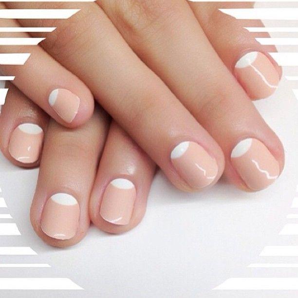 Bright half moon nails crafthubs fashion pinterest nude bright half moon nails crafthubs sciox Choice Image