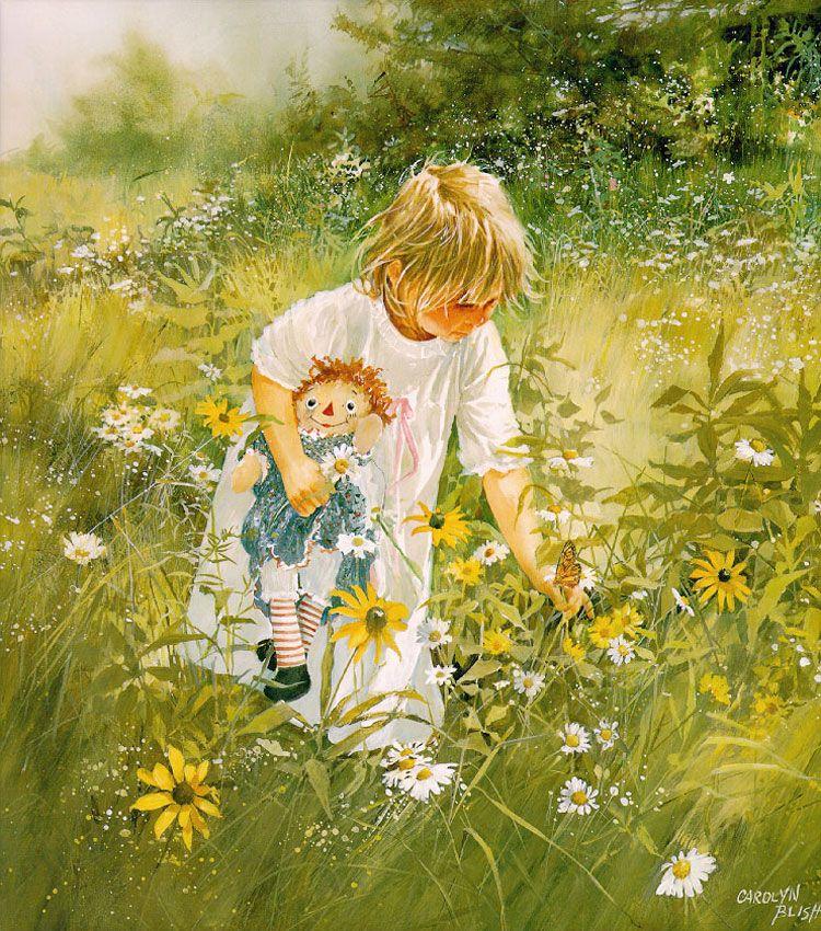 Фотодекор набор, открытка девочка в поле