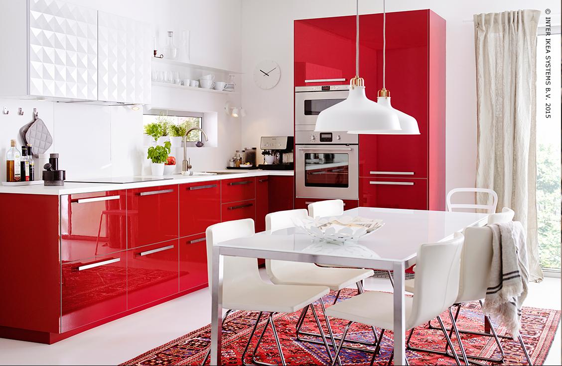 Meubles Luminaires Deco D Interieur Et Plus Encore Meuble Cuisine Cuisine Rouge Cuisine Moderne