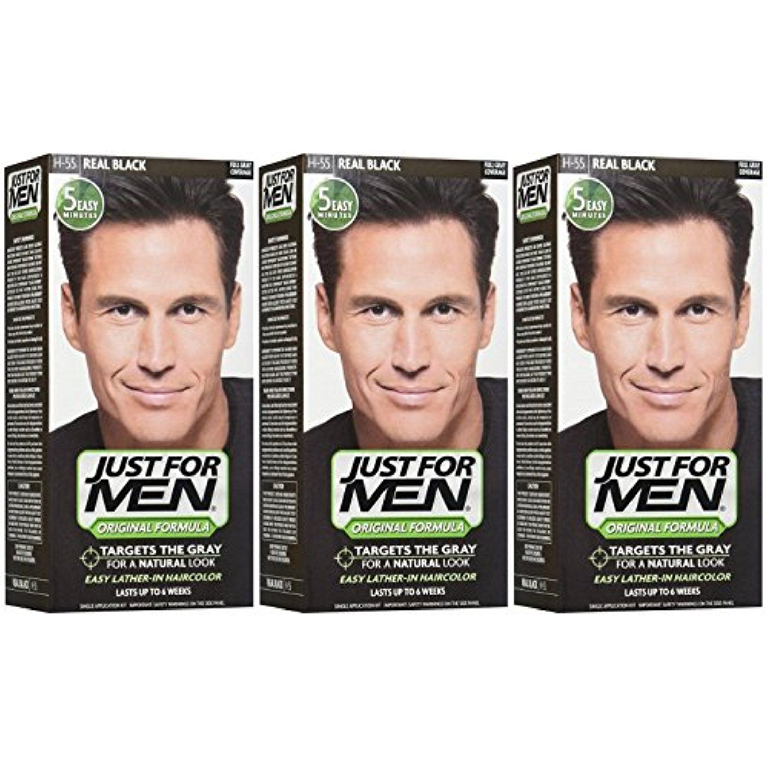 Just For Men Shampoo In Hair Color Real Black 3 Pk Read More
