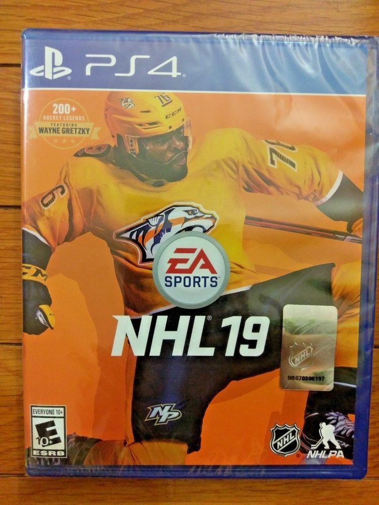 NEW SEALED PS4 NHL 19 EA Hockey Game PlayStation 4 2019