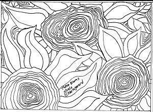 3 flowers rug pattern