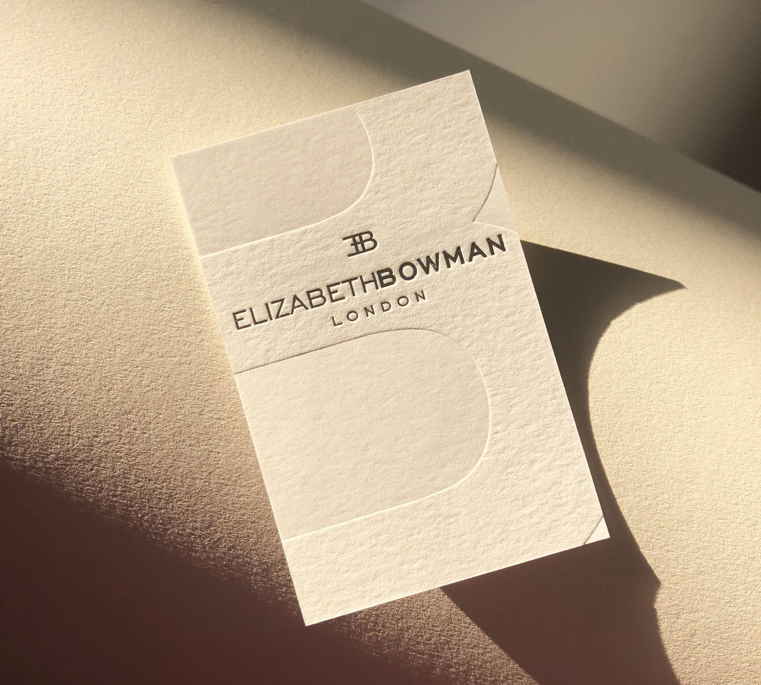 Debossed Business Cards Silver Foil Blind Debosing Printed By Dot Studio Lon Interior Designer Business Card Embossed Business Cards Fashion Business Cards