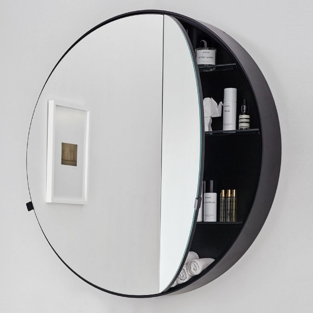 Cielo Round Box Mirror Tattahome Round Mirror Bathroom Mirror Cabinets Mirror