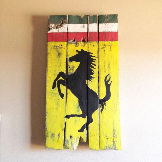 Rustic Ferrari Decor from Reclaimed Wood | Ferrari, Woods and Car ...