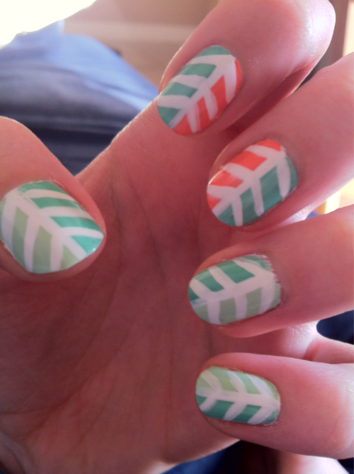 I prefer only 2 nails designed and the rest solid color this is such ...
