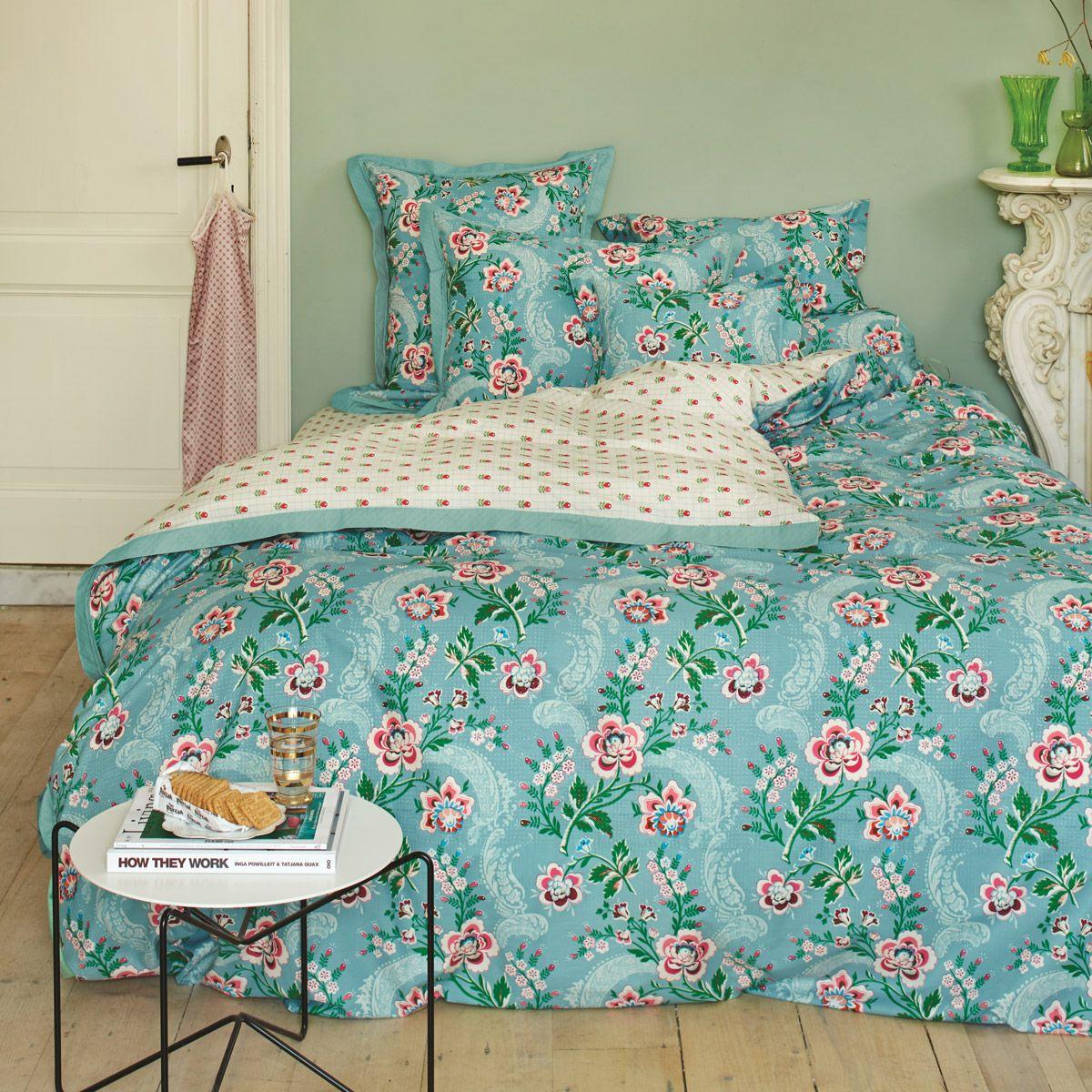 pip studio bettw sche le bois fleuri blau betten mit sch ner bettw sche bettw sche bett. Black Bedroom Furniture Sets. Home Design Ideas