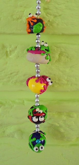 fimo frogs- just hanging!