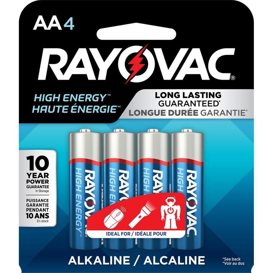 Rayovac High Energy Alkaline Aa Batteries 4 Pack Lowes Com In 2021 High Energy Energy Batteries