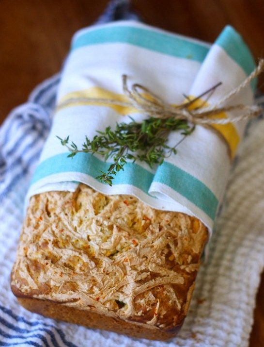 Cheddar Jalapeno Thyme Quick Bread
