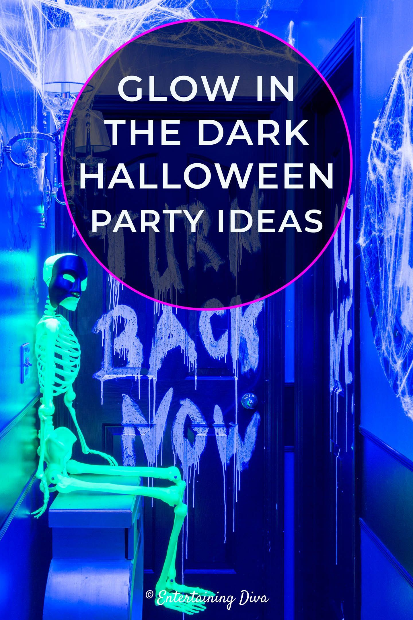 10 Awesome Glow In The Dark Party Ideas For Halloween Halloween Entertaining Halloween Party Halloween Scene Setters
