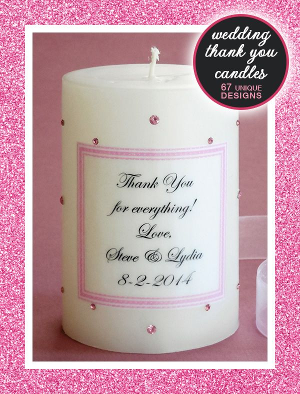 Bridesmaid Candles And Thank You For Wedding Gifts