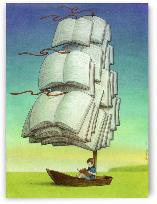 journey  Pawel Kuczynski   Canvas Artwork is part of Satirical illustrations - journey  Pawel Kuczynski    Canvas Print
