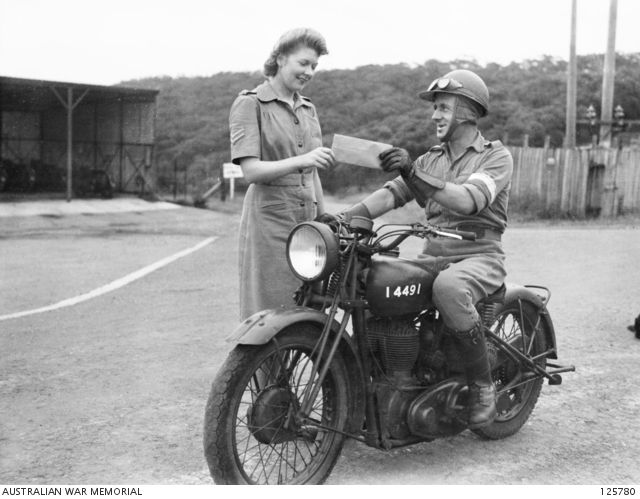 Australian Army dispatch rider. Read my Anzac Day tribute to military motorcycles here: http://motorbikewriter.com/anzac-day-tribute-military-motorcycles/