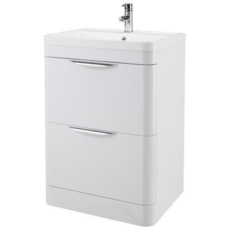 Monza Floor Standing Vanity Unit W Basin W600 X D445mm At