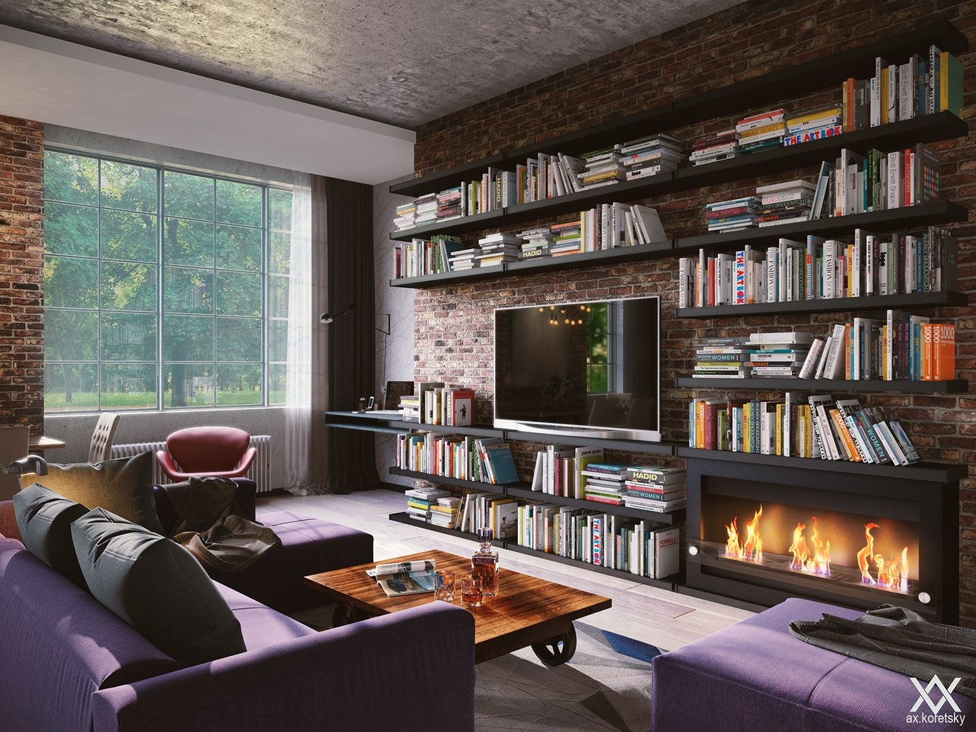 S&L | Loft-style apartment on Behance