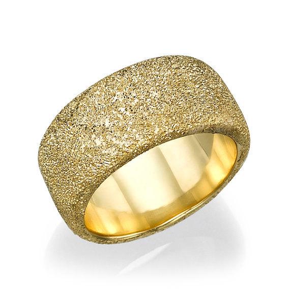 Wedding Ring Gold 14k With Glitter Wedding Band Unique Weddding
