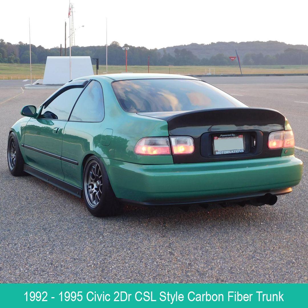 1992 1995 Honda Civic 2dr Csl Style Carbon Fiber Trunk Vis Racing Honda Civic Honda Civic Coupe Civic Coupe