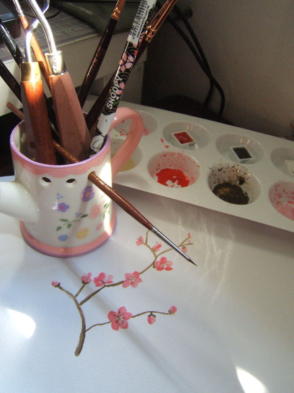 sakura painting @sakura @watercolor @invitation